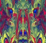 Free Photo - Abstract Painted Mirror Effect
