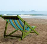Free Photo - Deckchair on an Empty Beach