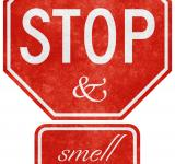 Free Photo - Grunge Road Sign - Stop & Smell the