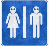 Free Photo - Grunge Sign - Alien Toilet