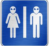 Free Photo - Brushed Metal Sign - Alien Toilet
