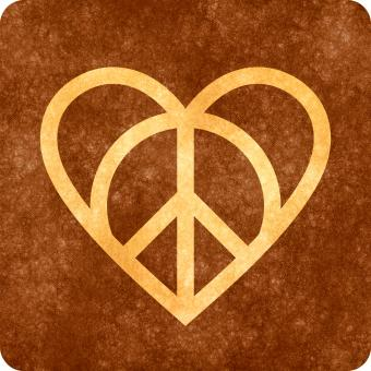 Grunge Sign - Love and Peace - Free Stock Photo