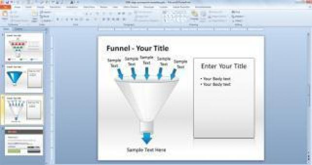Free PowerPoint Template Data Flow - Free Stock Photo