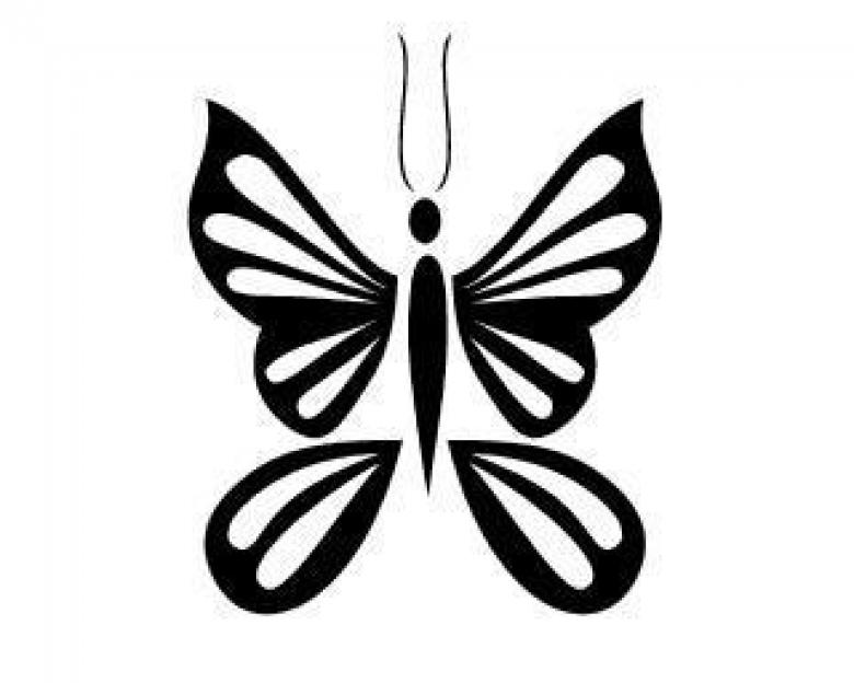 Free Stock Photo of Vector Tribal Butterfly Created by guppylover