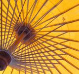Free Photo - Bright Orange Oriental Sun Umbrella