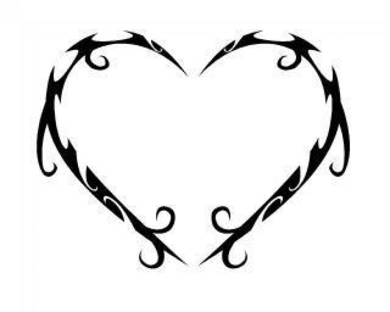 Free Stock Photo of Heart tribal vector Created by guppylover