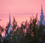 Free Photo - Purple skies and two towers