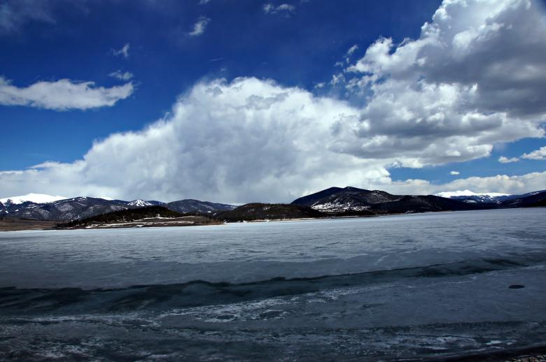 Free Stock Photo of Mountain Clouds over Icy Lake Dillon Created by Michael Kirsh