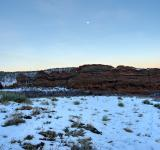 Free Photo - Red Rocks Twilight Moon