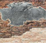 Free Photo - Brick Wall with Blank Concrete Patch