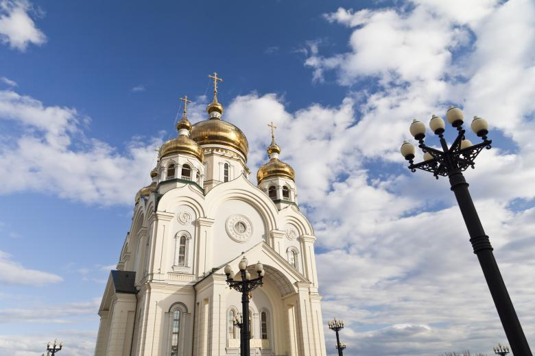 Free Stock Photo of Orthodox church against the blue sky Created by Andrei Seleznev