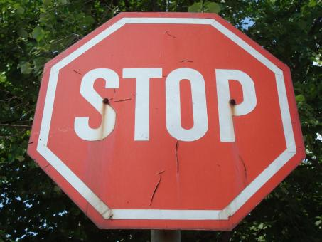 Old stop sign - Free Stock Photo