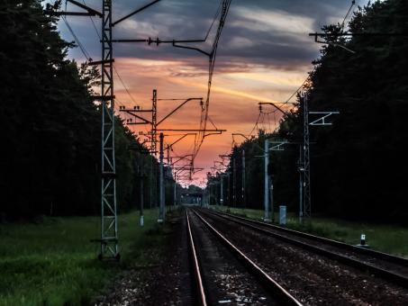 Evening railroad - Free Stock Photo