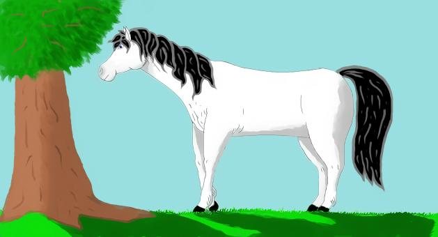White horse painting - Free Stock Photo
