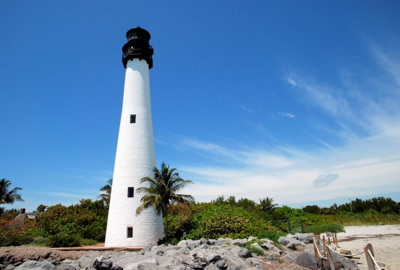 Free Stock Photo of Cape Florida Lighthouse Created by Donnie Shackleford