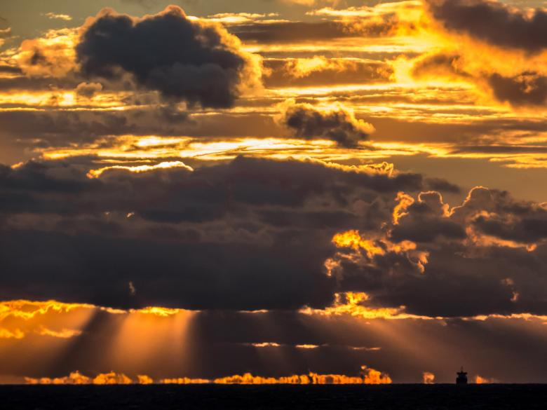 Sunset art Free Stock Photo