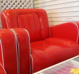 Free Photo - Bright Red Armchair