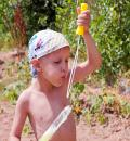 Free Photo - Boy blowing soap bubbles