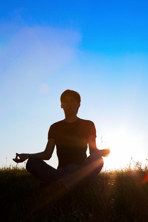 Man and sun - Free Yoga Stock Photos