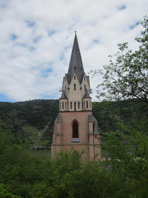 Free Stock Photo of Church tower in Oberwesel, Germany Created by Boris Kyurkchiev