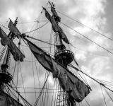 Free Photo - Sailing ship's masts with sails