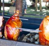 Free Photo - Pork roasting over fire