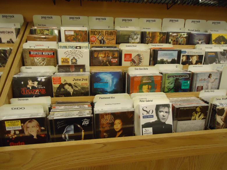 Free Stock Photo of CD shelf Created by Katharine Sparrow