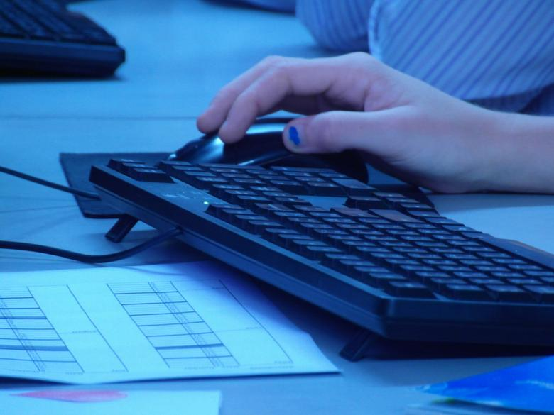 Free Stock Photo of Hand on Computer Mouse Created by Ian L