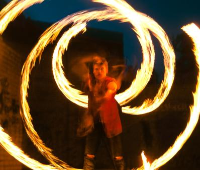 Fire Show - Free Stock Photo