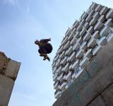 Free Photo - urban flying man