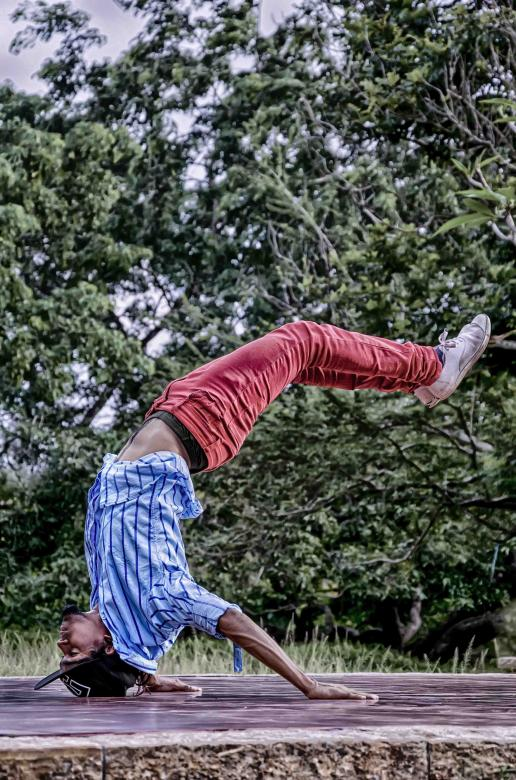 Free Stock Photo of  Street Dancer Flexible body capture Created by DEEPU DAS