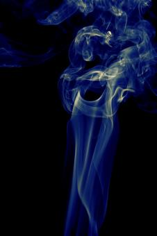 Blue smoke on black - Free Stock Photo