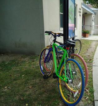 Green and Pink Bicycles - Free Stock Photo
