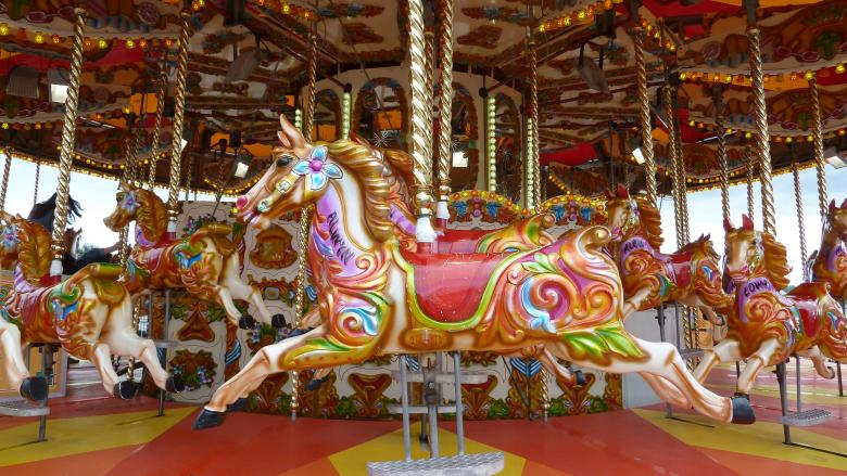 Free Stock Photo of Carousel Created by Miss Evita