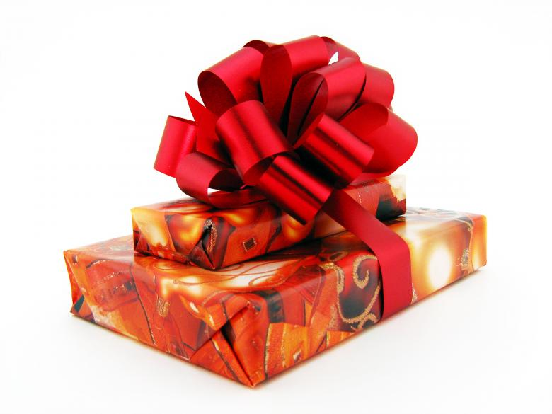 Free Stock Photo of Gift with red bow Created by 2happy