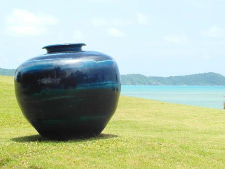 Large Vase in Ocean Garden - Free Stock Photo
