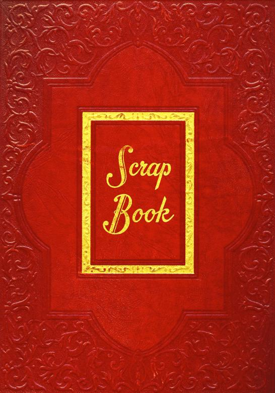 Free Stock Photo of Vintage Scrapbook Cover - Red Created by Nicolas Raymond