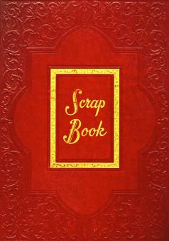 Vintage Scrapbook Cover - Red - Free Stock Photo