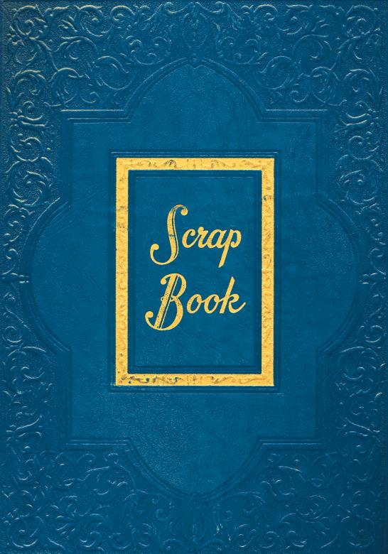 Free Stock Photo of Vintage Scrapbook Cover - Blue Created by Nicolas Raymond