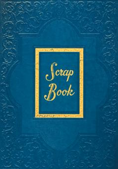 Vintage Scrapbook Cover - Blue - Free Stock Photo