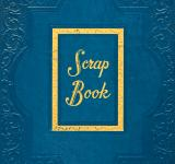 Free Photo - Vintage Scrapbook Cover - Blue