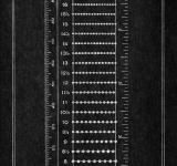 Free Photo - Vintage Cardboard Ruler - Inverted Black