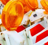 Free Photo - Road work flashers