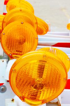 Road work flashers - Free Stock Photo