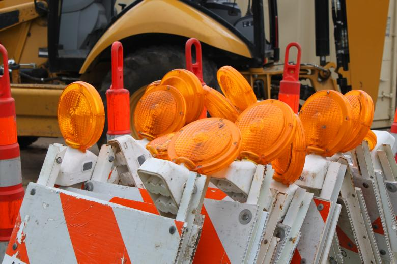 Free Stock Photo of Road work flashers Created by Val Lawless
