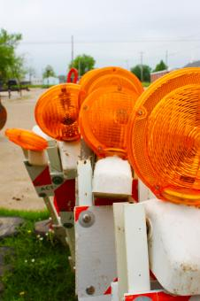 Construction lights - Free Stock Photo