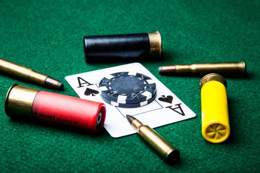 Bullets and ace of spades - Free Stock Photo