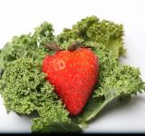 Free Photo - Red Strawberry on kale