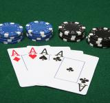Free Photo - Four of a kind aces with poker chips