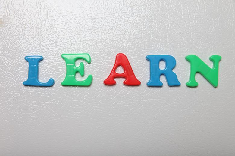 Free Stock Photo of Letters spelling Learn Created by Jared Davidson